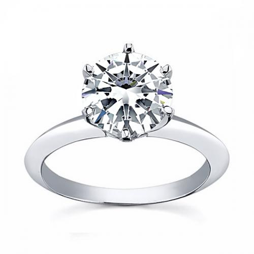 Tiffany 6 Claw Engagement Setting For Round Diamond